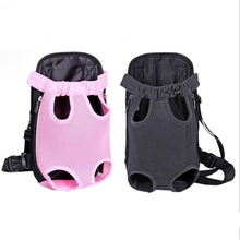 Pet Backpack Cat Dog Bag Accessories Five-hole Mesh Breathable Chest Out Of The Shoulder Supplies