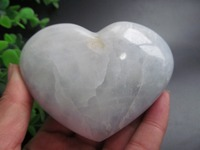 NATURAL PRETTY CELESTITE CRYSTAL HEART HEALING Decoration Resistant Healing Stone Feng Shui Decoration 296g