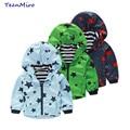 Kids Jackets Spring Autumn Boys Hooded Windbreaker Top Clothes Children Waterproof Rain Wear Coat For Girls Baby Trench Coat