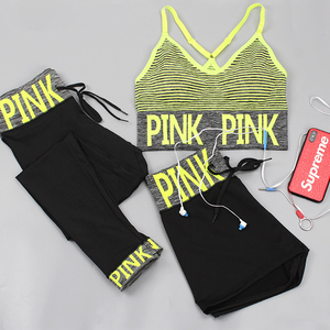 PINK Women Yoga Sets Sports Br