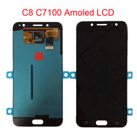 C8 Amoled lcd For Samsung Galaxy C7 2017 C8 C7100 C710 LCD Display Touch Screen Digitizer Assembly C710F/DS J7 plus lcd screen