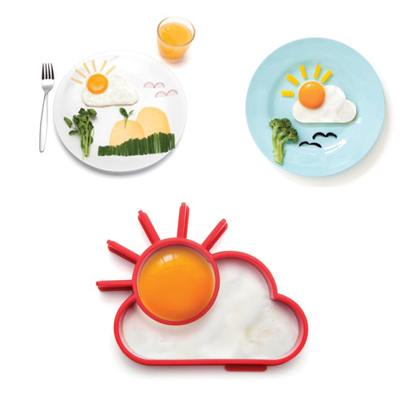 Cute Kitchen Tools Silicone Egg Shaper Sun & Cloud Egg Mold Kids DIY Breakfast Surprise Eggs Supplies