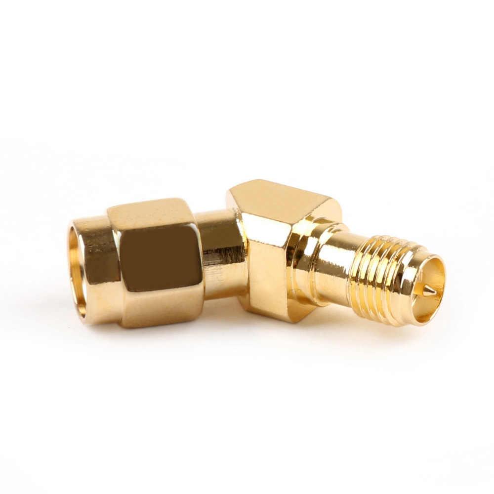 1 piezas 45 grados 135 grados SMA macho a SMA hembra antena conector Adpater para gafas de vídeo RX5808 auriculares
