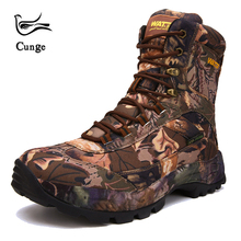 cunge Tactical Military boots Hiking Shoes Professional Waterproof ankle Hiking Boots Outdoor travel Mountain Sports Sneakers