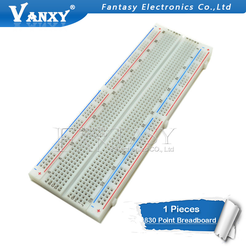 Breadboard 830 Point Solderless PCB Bread Board MB-102 MB102 Test Develop DIY