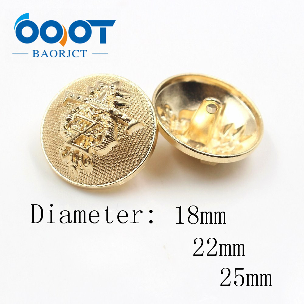 Supply 183231,12pcs 18mm 22mm 25mm Diy Handmade Sewing Metal Blazer Button Set-badge-for Blazer,suits,sport Coat,uniform,jacket gold Be Friendly In Use
