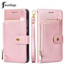 Кожаный чехол бумажник funelego для iphone 6 6s 7 8 plus с отделением