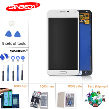 Sinbeda 100% Test For SAMSUNG GALAXY S5 LCD Display i9600 G900F G900M G9001 LCD Touch Screen Digitizer Assembly With Botton original genuine lcd screen display with touch digitizer assembly for samsung galaxy s5 active g870a g870 ship by dhl ems