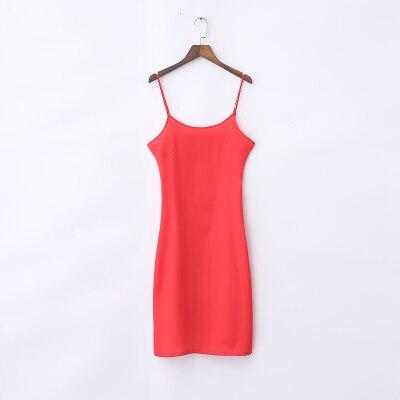 Condole belt skirt inside take render show thin slip loose adjustable long vest -007