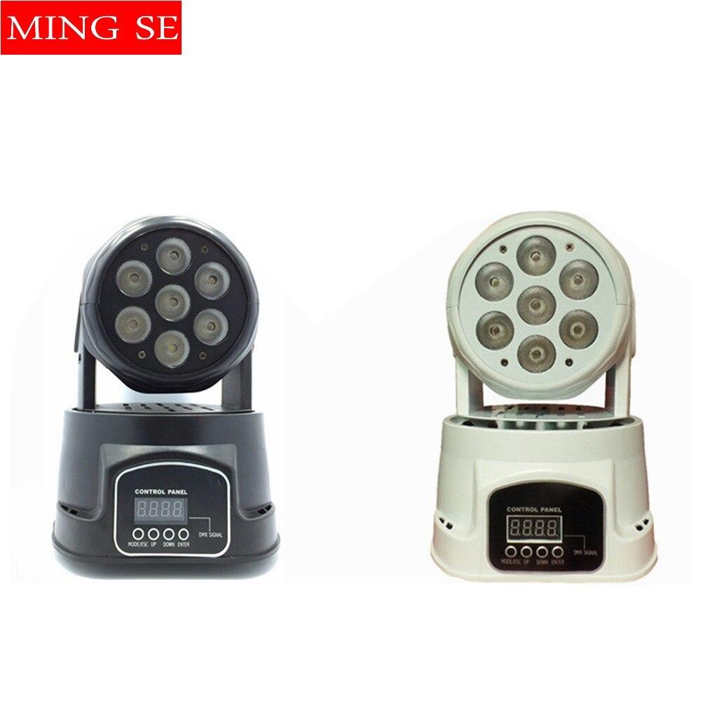 1 st CREE 7x12W RGBW quad mini led tvätt rörlig huvudlampa LED scenbelysning Mini LED rörlig huvud 14 kanaler