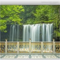 Beibehang كبيرة شرفة السياج شلالات المشهد رقة خلفية خلفيات 3d الحديثة غرفة المعيشة الأوروبية اللوحة