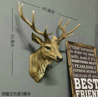 Dollhouse Miniature Deer Head Wall Decoration Refrigerator Magnet Clas craft statues Vintage Background wall sculpture Home dies
