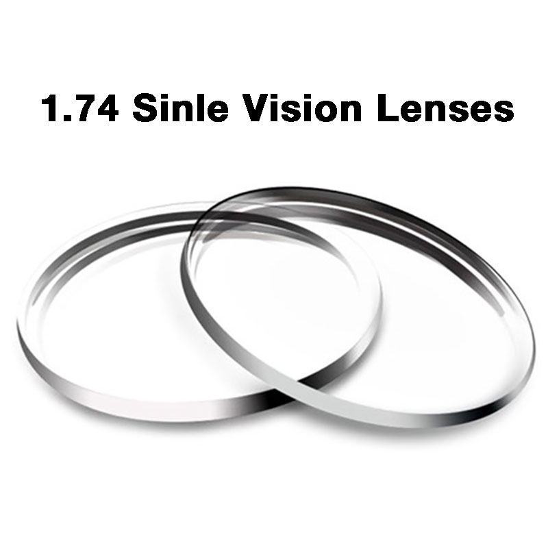 New 1.74 Single Vision Lenses For Men and Women Clear Optical Single Vision Lens HMC, EMI Aspheric Anti UV