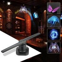 Магазин Бар Casino 3D Голограмма рекламы Дисплей светодиодный вентилятор голографической визуализации невооруженным глазом светодиодный пок