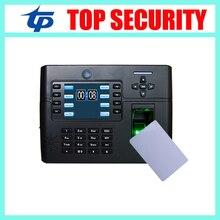 Atención del tiempo de huella digital y tarjeta de MF 13.56 mhz tarjeta inteligente puerta de control de acceso de control construido en la batería y la cámara iclock900