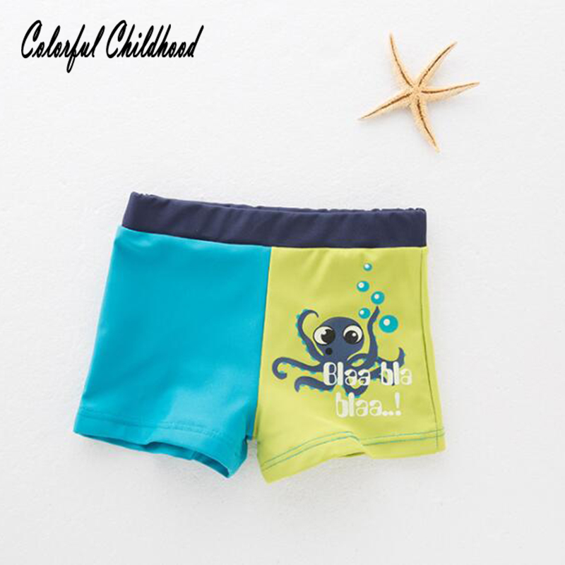 -5yrs Bambino Abiti Da Spiaggia Estate Cartoon Octopus Design Sport Pantaloncini Ragazzi Costume Da Bagno Swimwear Bambini Costumi Da Bagno Prezzo Moderato
