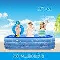 Grandes piscinas para niños 260*175*55 CM infantil inflable piscina de la familia piscina gigante para bebés y niños aislamiento envío libre