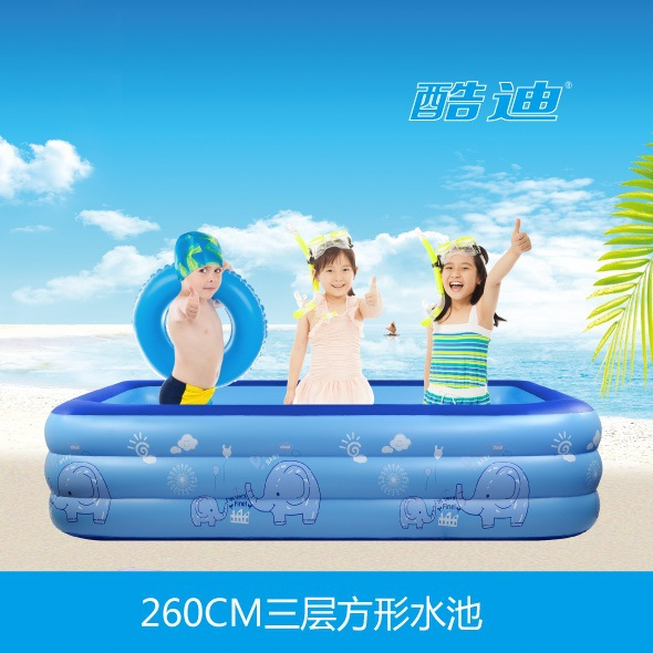 big children swimming pools 260*175*55CM inflatable infant family pool giant swimming pool for baby kids insulation shipping dual slide portable baby swimming pool pvc inflatable pool babies child eco friendly piscina transparent infant swimming pools