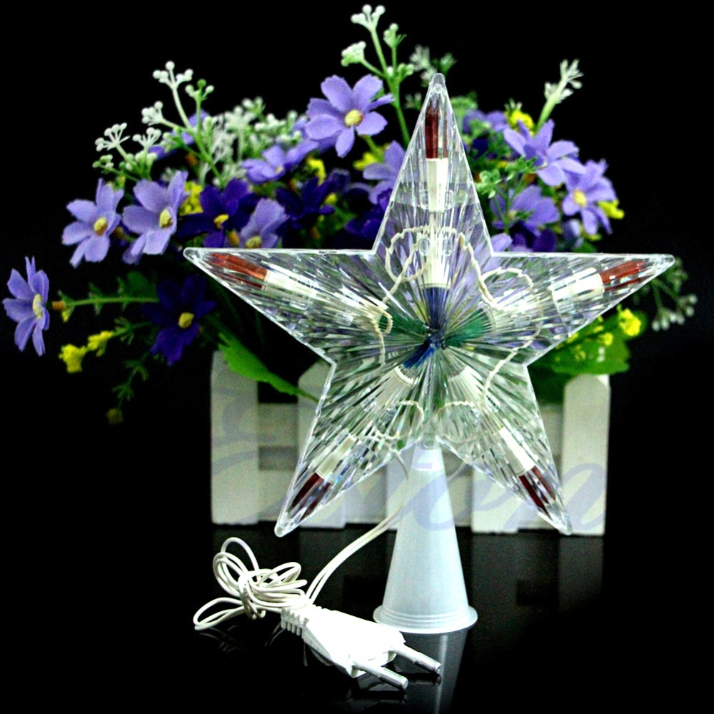 YAM Color Changing Xmas Christmas Tree Topper Star Light Party LED ...