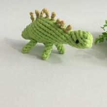 18 cm Dinosaurio Juguete Nudo Chew Cuerda Cuerda de Algodón para Mascotas Perro de juguete juguetes para masticar Vegetales Diseños Toays productos Para Mascotas