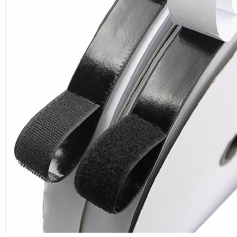 25M*2 Hook and Loop Fastener Tape, Self Adhesive Sticky Tape, Heavy Duty Hook Loop Tape Reusable Double Sided Sticky Tape