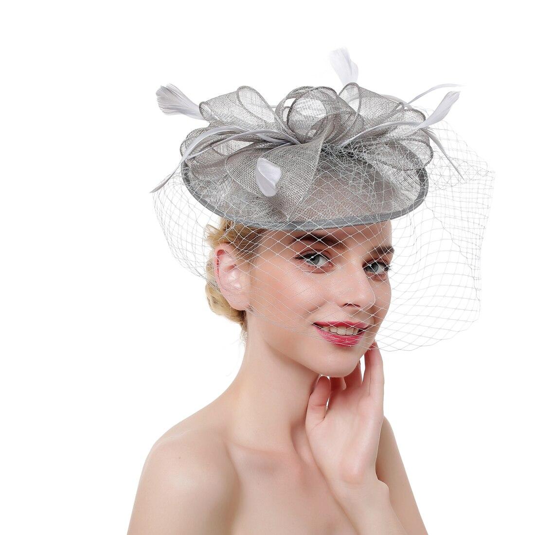 Retro veil Ball dance party hair clips for girls Ladies head wear accessories Bride veil wedding decoration hair band for women