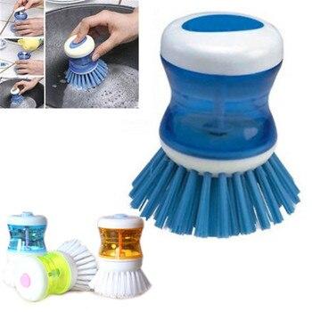 Protable zmywarka szczotka z mycia Up zbiornik cieczy mydła dozowania szczotka do mycia czyszczenia narzędzia kuchenne zestaw