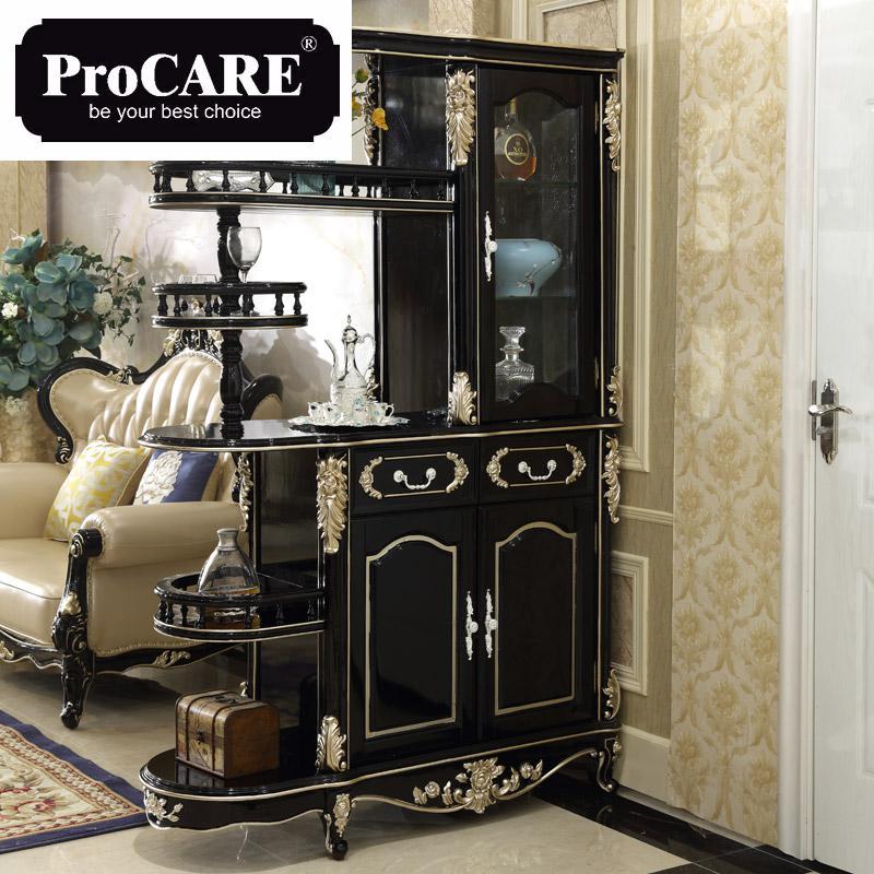 Armoire de style européen, armoire à vin rouge, armoire de séparation en bois massif