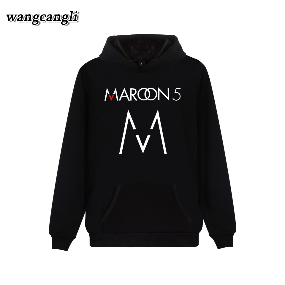 Rock Band Maroon 5 Hoodies Women Men 2018 New Print Streetwear Pullover Autumn Winter Jacket Sweatshirt Plus Size 4XL