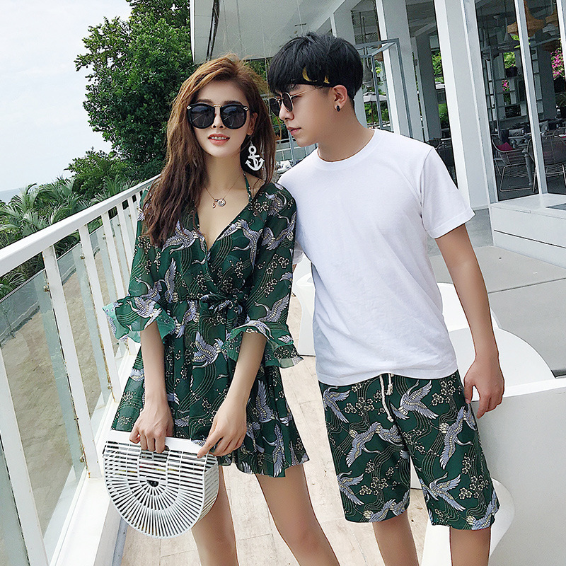 Bathing Suits Women Bikini 2019 Swimsuit For Suit Swimming Swimsuits Girls Rush Guard Couple Sexy Beach Lovers Letter Polyester