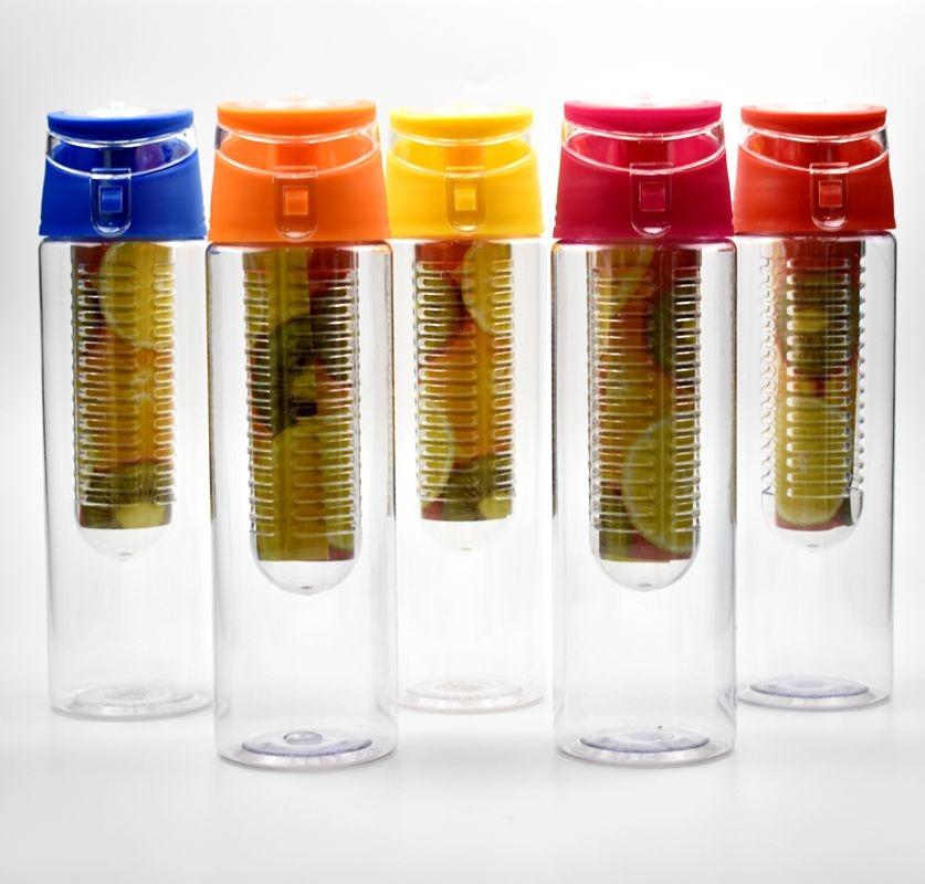 800 ML Portable fruit Infusing Infuser Water bottle Sports Lemon Juice Bottle Flip Lid for kitchen table Camping travel outdoor