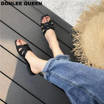 DONLEE QUEEN Women Brand Slippers Summer Slides Open Toe Flat Casual Shoes Leisure Sandal Female Beach Flip Flops Big Size 41 3