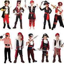 dbee5d7a8624c Livraison gratuite Pirates des Caraïbes Halloween costume pour enfants  Pirate Capitaine Cosplay dominateur garçon pirate costume