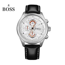 BOSS Germany watches men luxury brand speed master Nurburgring series Chronograph watch luminous white montre Homme