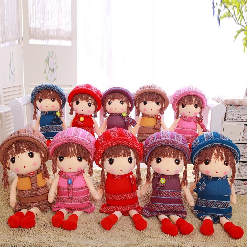 Lifestyle Stuffed Dolls Lovely RagDoll Plush Wedding Rag Doll Girls Cloth Dolls Sweet Kids Christmas Birthday Gift Dolls