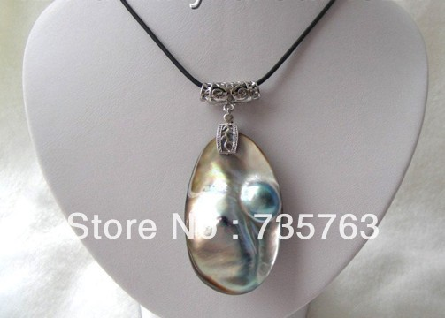 xiuli 00958 SUPERB the biggest 30x60mm gray southsea MABE pearls pendantxiuli 00958 SUPERB the biggest 30x60mm gray southsea MABE pearls pendant