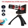2017 150x teleobjetivos zoom 18x telescopio lente macro para samsung S3 S4 S5 S6 S7 borde ojo de Pez Angl Amplia Microscopio Lentes