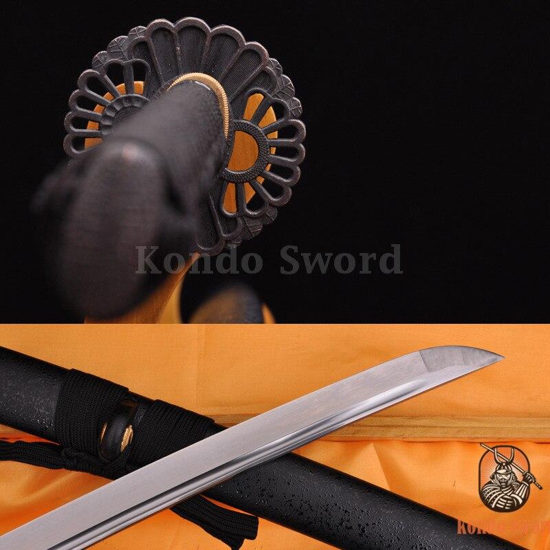 Полный Тан нож японский самурай Битва готов меч 1060 высокоуглеродистой Катана из стали может cut Бамбук Дерево