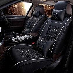 Универсальные чехлы для сидений автомобиля из искусственной кожи для Toyota Corolla Camry Rav4 Auris Prius Yalis Avensis SUV Автомобильные аксессуары Автомобильны...