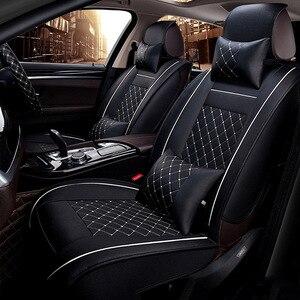 Image 1 - Universale DELLUNITÀ di ELABORAZIONE di Cuoio seggiolino per auto copre Per Toyota Corolla Camry Rav4 Auris Prius Yalis Avensis SUV accessori auto auto bastoni