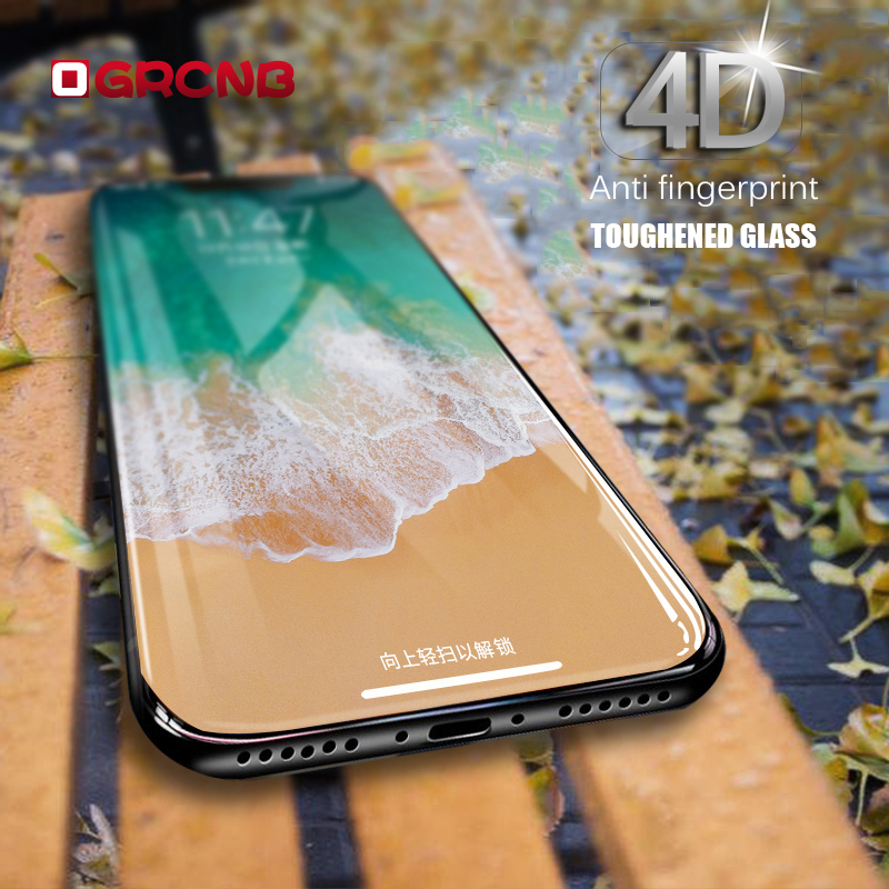 Galleria fotografica 4D Curved Edge Full Cover Tempered Glass For iPhone X 10 Screen Protector For iPhone 6 6s 7 8 Plus Phone Protective glass