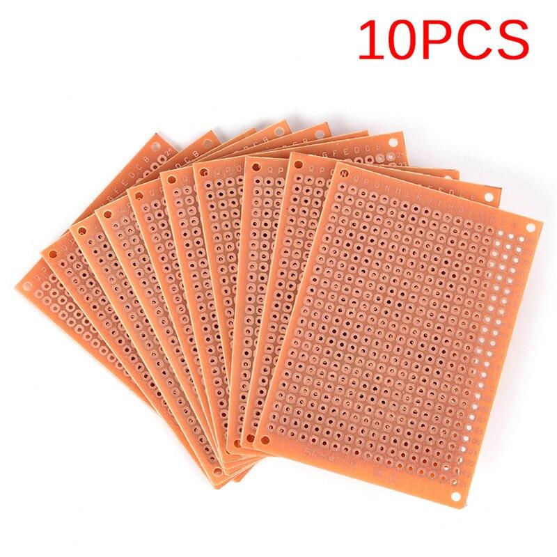 10Pcs/lot Universal Board 5cm X 7cm Prototyping PCB Kit DIY Prototype Paper PCB Fr4