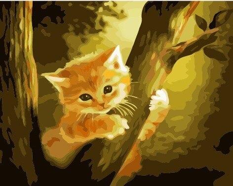 4918 Alta Calidad Pintura Al óleo Digital Gatos Como Usted Pintura Diy Por El Número Pintado Para La Decoración Casera 40x50 Cm En Pintura Y