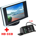 7LED HD CCD Car Rear View Camera + 3.5 inch Color LCD Car Video Monitor backup Camera 2 in 1 Auto Parking Assistance system