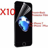 10pcs/lot Clear front + 10pcs Back Screen Protectors Film For iphone7 7Plus 6 6s 4 4s 5 5s SE 6s Plus Guard Screen Protector
