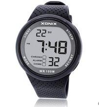 Erkek spor saat Dijital Su Geçirmez 100m Yüzme Izle led ışık Chronograph İşlevli Dalgıç Izle Açık Kol Saati
