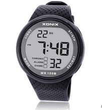 Montre numérique de sport pour hommes, étanche, chronographe léger, multifonction, 100, montre bracelet pour lextérieur, natation, montre Led m