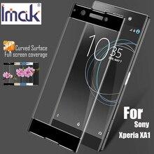 Pour sony xperia xa1 trempé verre imak marque 3d courbe pleine couverture trempé protecteur d'écran en verre pour sony xperia xa1 5.0 pouce