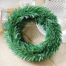 5.5M Christmas Tree Decoration Garland Wired Garland Christmas Pine Tree Ornaments Green(China)