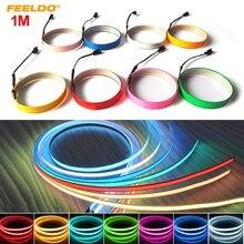 Cold-Light-Strip Electroluminescent-Tape Car-Ambient-Light 1m DC FEELDO 12V -Mx4468 3pcs